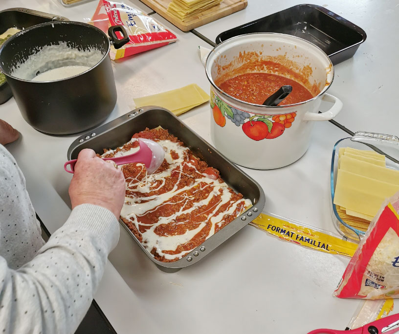 Atelier lasagne